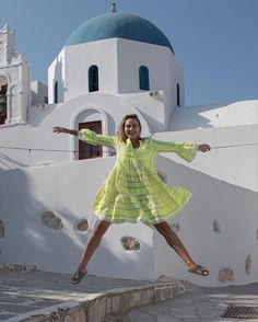 Devotion Twins #embroidery #madeingreece #resortwear White Midi Dress, Resort Wear, Off White, Twins, Lime, Neon, Embroidery, Shoulder, Cotton