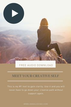 Audio exercise for creativity | Free audio download | This is my very favourite exercise and I love that you jumped at the chance to try it! It's part of lesson 1 in The Creative Doer course, and it allows you to team up with one of your most powerful inner resources: Your Creative Self. I use it all the time to get clarity, and once you dive into it, you'll never have to go without support on your path again.