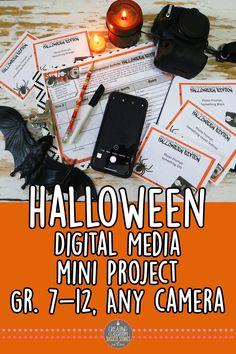 Mini Digital Photography Project, Halloween-Themed Activity