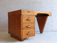 French Oak Desk, ca.1950. Compositionally this is great. It's also shot from a great angle for maximum effect.