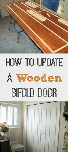 Great tutorial on how to update an otherwise dated wooden bifold door.