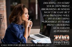 "If you're thinking about starting your own print brokering service in 2017 give Zoo Printing a call first. We do everything we can to help you put ""Profits in Your Pockets.""  ""Seamless Online Print Ordering & Delivery from Wholesaler to Customer"" #Printers #PrintBrokers #GraphicDesigners #PrintResellers #WholesalePrinting #TradePrinter #Printer4Printers #ZooPrinting"