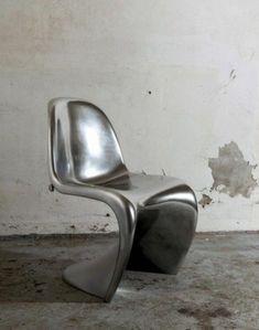 Panton Chair silver designer Verner Panton