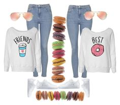 """""""Coffee and donuts and cookies too and yes I am best friends with you."""" by misnik ❤ liked on Polyvore featuring Topshop, Ray-Ban, NIKE, Brewster Home Fashions, women's clothing, women, female, woman, misses and juniors"""