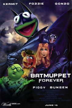 Gfest: 'BATMUPPET FOREVER' Movie Poster is Two-Facerrific!