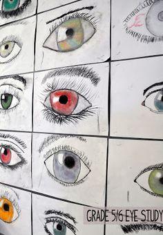 artisan des arts: Eye study - grade 5/6