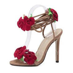 Shoes - $35.16 - Women's Sandals Peep Toe Heels Stiletto Heel Suede Shoes (1625099827)