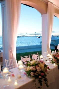 Love Belle Mer - can't decide if having a newport wedding would be too perfect or too predictable!