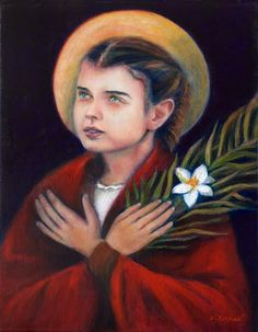 """""""He loves, He hopes, He waits. Our Lord prefers to wait Himself for the sinner for years rather than to keep us waiting an instant.""""  St. Maria Goretti, 1890-1902"""