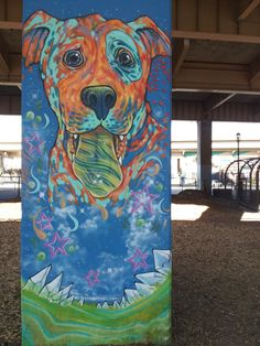 Even the dogs are exposed to art and culture at the Deep Ellum's Central Bark!