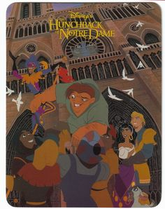Disney's Hunchback of Notre Dame Postcard.   This is just beautiful. You can frame it and give it as a gift for the Disney Collector that has everything.