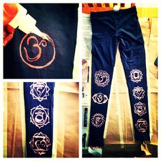DYI bleach art leggings ! Chakra style. Anything yoga makes me smile. Especially when I can create something by hand!