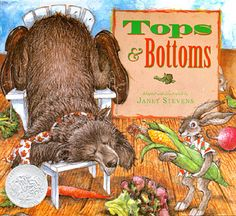Tops and bottoms by Janet Stevens helps students understand the parts of a food web and where we, as humans, fit into said food web!