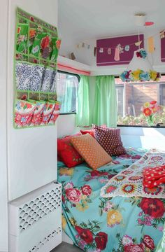 This would be fabulous - I would probably enjoy camping much more if I had this cool camper (wouldn't need the china/tea pots though): The Glam Camper! #glamping