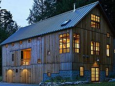 Converted barn... I cannot get enough of this type of building!