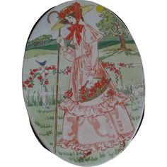 Little Bo-Peep Vintage Tin Brown Sugar Waffle Cookies Valley Brook Farms offered at Ruby Lane by Saltymaggie's Treasures