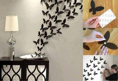 Butterfly and wall decorations