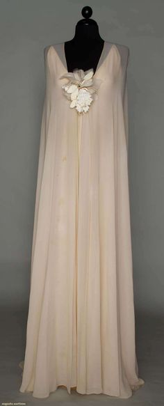Christian Dior Couture Evening Gown Spring  1974