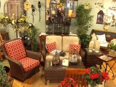 We now offer lovely indoor/outdoor patio furniture with lots of different frame and fabric options!