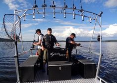Fishing safari with the company Lapland Wild Fish at the Lake Miekojärvi in Pello in Lapland