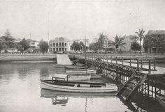Esplanade, from Yacht Club Jetty, Durban. ca. 1920