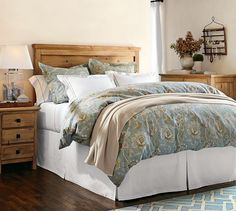 Mason Headboard & Dresser Set - Wax Pine Finish