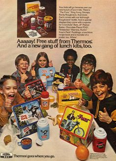 Lunch boxes by thermos, 1977 ...