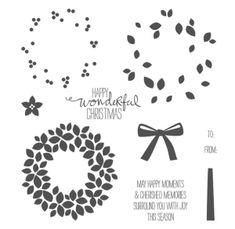 stampin up wondrous wreath 2014   Stampin Up - Wondrous Wreath Video by Stampin' Up! - Post By ...