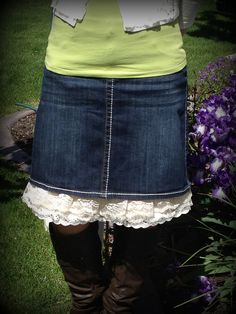 Skirt Extender Slip Tutorial.  The perfect fix for the skirt that is a tad bit too short!