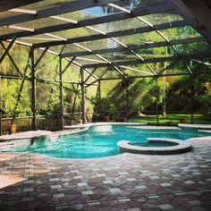 Pool in sunroom
