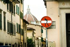 Florence street sign art by Clet