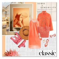 """""""Extra classic"""" by undici ❤ liked on Polyvore featuring WALL, Topshop, La Fiorentina, Mar y Sol and ZeroUV"""