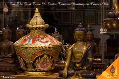 For the first time in India. Tanjore Painting, Times Of India, First Time, Buddha, Pots, Paintings, Statue, Products, Paint