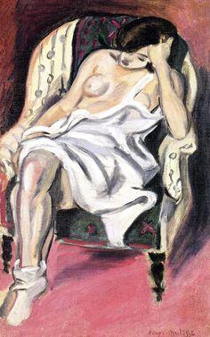 Nude in an Armchair / Henri Matisse - 1921 http://bofransson.tumblr.com/post/54182645636/nude-in-an-armchair-henri-matisse-1921