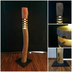Stehlampen - Stehlampe aus Holz - Warmweiß und Kaltweiß dimmbar - ein Designerstück von Shining-Wood bei DaWanda