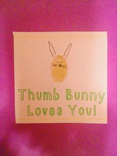 Thumb Bunny Loves You Craft Ideas for kids