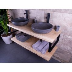 Bathroom Toilets, Bathroom Renos, Bathroom Storage, Wc Design, Wood Countertops, Bathroom Interior Design, Industrial Style, Home Projects, Shelves