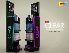Pos Design, Retail Design, Clear Shampoo, Anti Dandruff Shampoo, Display, Behance, Outlets, Check, Pos