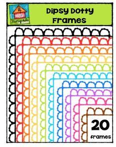 FREE Dipsy Dotty Frames {P4 Clips Trioriginals Digital Clip Art)