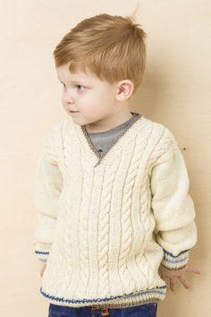 Pojan palmikkoneulepusero Novita Nalle | Novita knits