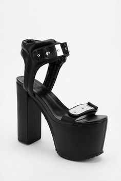 UNIF The Gonner Metal Plate Platform Sandal #urbanoutfitters