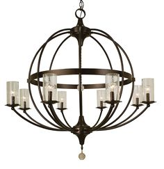 Compass 8-Light Candle-Style Chandelier