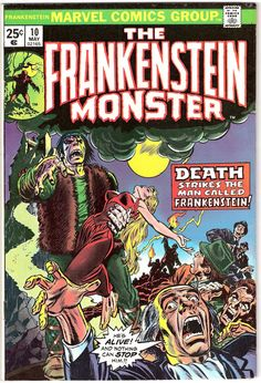 Frankenstein 10 Marvel Comics The Monster Universal Tales of Horror Fear Terror Scary Creepy Nightmare 1974 VF+ by LifeofComics #comicbook #halloween