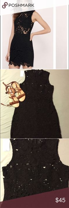 NWT Large Black Lace Tobi Mini Dress This dress is a show stopper! Dress is all lace, with the skirt lined! Note the top is not lined! Be daring and show some skin and let the lace cover the girls or add a bandeau for a pop of color! Tobi dresses do run small but a large on their website is advertised as fitting an 8-10 Tobi Dresses Mini