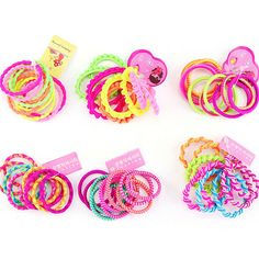 Mini Elastic Rubber Hair Bands Bobbles Girls Stylish Ponytail Rubbers