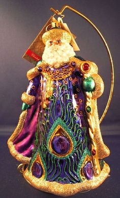 Christopher Radko Santa Ornament Peacock