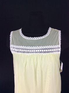 2dbdb8cf9a Chiffon Baby Doll Vintage Circa 1960 Nightgown Size Large by  MaddyJamesLingerie on Etsy Baby Doll Nighties
