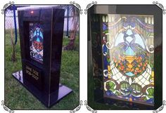stained glass headstones