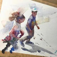 Eudes Correia: 2 тыс изображений найдено в Яндекс.Картинках Watercolor Painting Techniques, Watercolor Artists, Watercolor Portraits, Watercolor Landscape, Watercolor Illustration, Watercolor Paintings, Watercolour, Liam Neeson, Figure Painting