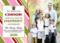 diy christmas photo cards | Christmas Photo Card - Customized, DIY Printable, Holiday - Merry ...
